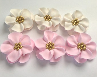 sugar flowers lot of 50 Royal Icing Flowers for Cake Decorating