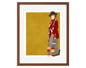 Doctor Who print - the Fourth Doctor/Tom Baker