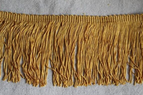 Antique GOLD chainette fringe