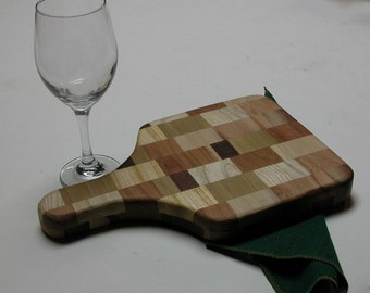 Distinctly Different Two Sided Wooden Cutting Board - Kitchen Decor - Makes a Great Gift