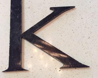 Vintage Metal Lowercase Letter k