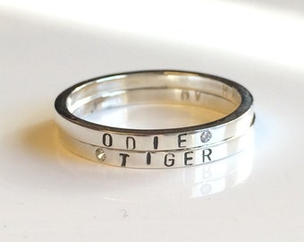 2mm Rescue Ring - Stamped Pet Name - Pay It Forward