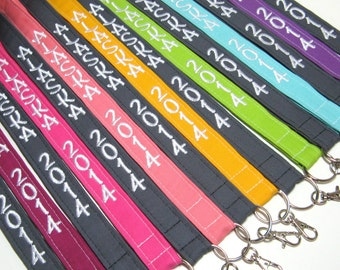 Kona Cotton Solid Lanyards - Design Your Own - Personalized Lanyard ID Badge Holder - Monogrammed - Key Strap