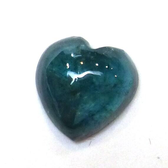 indicolite blue tourmaline cabochon gemstone