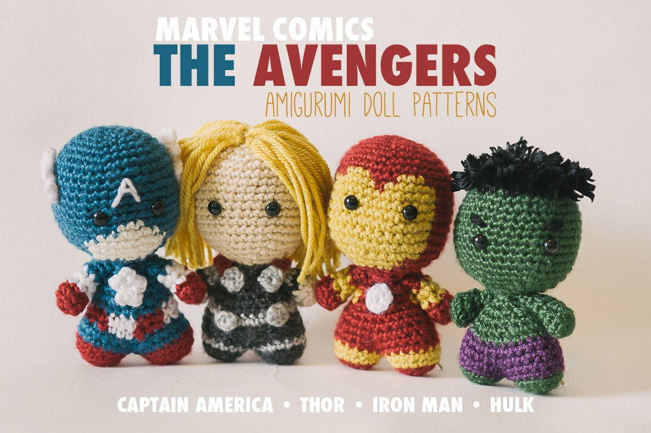 Free Amigurumi Superhero Patterns : The Avengers Amigurumi Dolls inspired by Marvel Comics