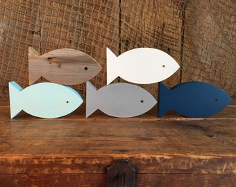 Set of 5 Wooden Fish