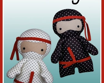 Little Ninjas PATTERN - Melly and Me - Softie pattern - Fabrics4u2