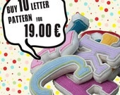 Special Deal -  Buy 10 crochet letter pattern, PDF