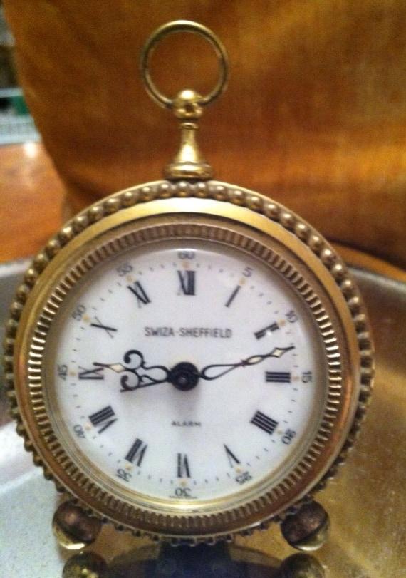 Vintage alarm clock swiza Sheffield Swiss made