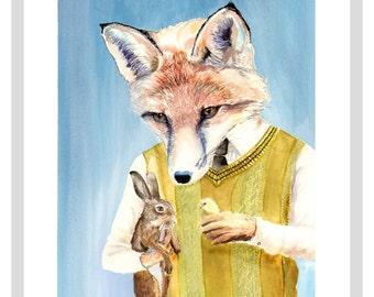 Mr Fox Print - A3 print