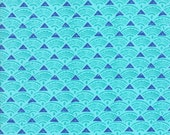 Ocean Tide Print in Ultramarine (Blue) from the Horizon Collection, by Moda, 1 yard