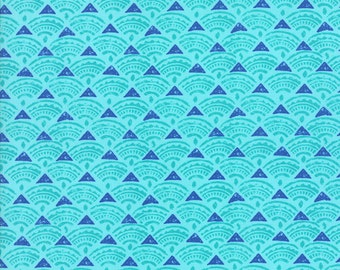 Ocean Tide Print in Ultramarine (Blue) from the Horizon Collection, by Moda