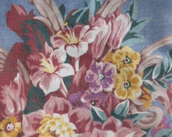 """Vintage 1950's Fabric, Seven Yards, upholstery,supplies,""""Windsor Court"""",french blue"""
