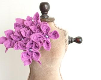 Lilac  Felt Flower Brooch