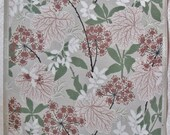 Vintage Eisenhart Wallpaper, Midcentury Leaves and Floral Print, 10 yards