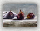 Fig Painting Print of Still Life Oil Painting Home Decor Wall Art - Unique Kitchen Food Room Decor - Farmhouse Dining Room Art Print