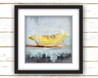 Lemon Slice - Art Print - Large Wall Art