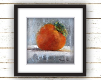Persimmon - Painting Print