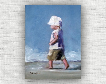 Man on a Mission - Art Print of Painting - Large Wall Art Print on Wood Block