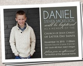 Boy/Girl Printable Baptism Invitation/Announcement (LDS baptism invite)