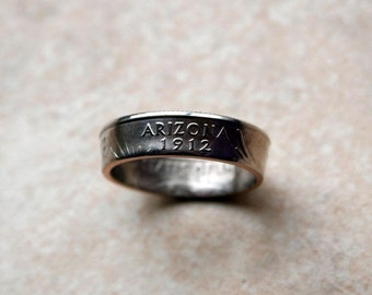 2008 Arizona State Quarter Coin Ring  U pick size jewelry by Custom Coin Rings