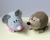 Spike the Hedgehog and Moe the Mouse toy knitting patterns