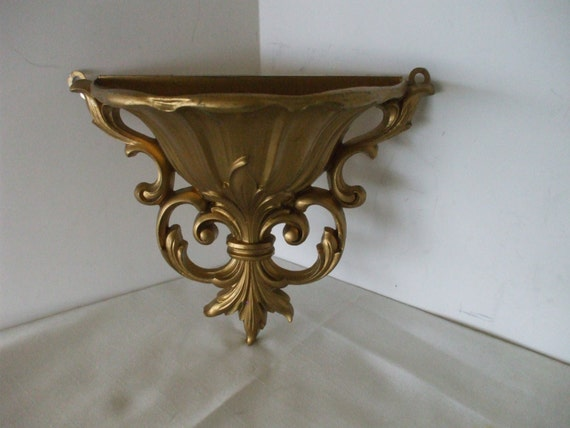 Wall Sconces Planters : Dart Vintage Gold Wall Sconce Planter by OneVintageVagabond