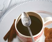 Cup of Cheer - Hand Stamped Vintage Spoon for the Holidays