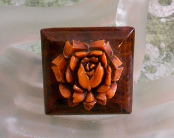 1930's Orange Celluloid Rose
