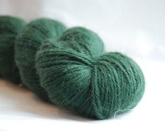 Alpaca yarn GREEN Fino Alpaca yarn 100gr / 3.5oz. Co.no 55