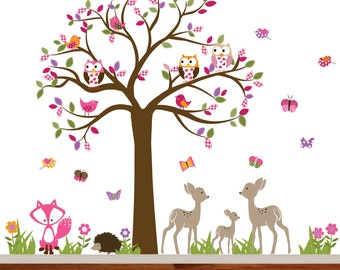 Childrens Wall Decal, Nursery Wall Decal, Nursery Decal, Wall Decal, Vinyl Wall Decal, Forest Decals, Woodland Nursery Decals