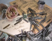 88 Antique Ink Pen Nibs, Vintage Collector Lot  ... nice variety, England and USA, Spencerian, Esterbrook