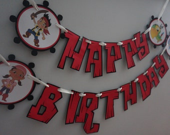 Jake and the Neverland Pirates Birthday Banner - MADE TO ORDER