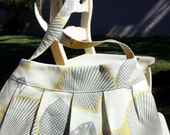 Ready To Ship Buttercup Purse Featuring Amy Butler Midwest Modern Fabric Yellow Gray Small
