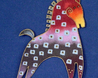 LAST SET*2 Mythical Horse Appliques*Handmade*RARE Laurel Burch Fabric/31