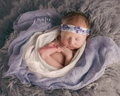 SET Violet Purple and White Cheesecloth Baby Wraps Cheese Cloth Newborn Photography