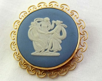 Authentic Wedgewood Cameo Pendant/Brooch The Three Graces Apparel & Accessories Jewelry Vintage Jewelry Brooch Cameo