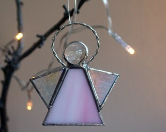 Stained Glass Angel, Angel Sun-catcher, Christmas Decoration, Glass Angel, Christmas Angel, Handmade UK