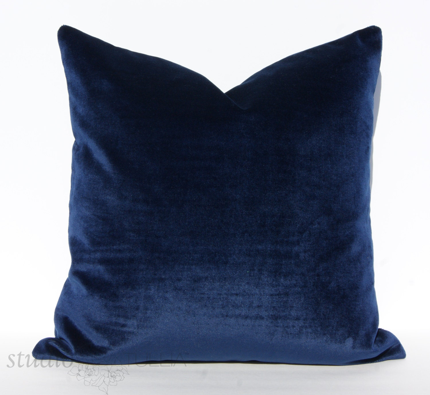 Midnight Blue Velvet Pillow Cover Decorative Pillow Cover