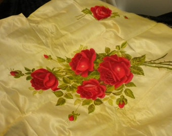 Hand Painted Roses on Silk panel (FFs1215)