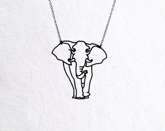 Elephant Necklace, African Elephant