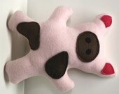 Dog Toy - Pinkie the Piglet squeaky fleece pig dog toy, pug toy, squeaky toy, squeaker toy, dog chew toy, plush dog toy, soft dog toy