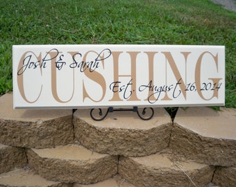 Personalized Name Sign, Last Name Sign, Personalized Family Name Signs, Family Name Sign, Name Sign, Established Sign, Wedding Name Sign