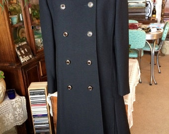Cozy SALE 25% 0FF Women's 1960 black wool winter coat Miss Style Of Course Was 100.00 Now 75.00