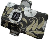 Iphone Galaxy Armband Sports Band Gadget Cell Phone Pouch Case Zipper Pocket Washable Amy Butler Leaves Flowers Fabric Waterproof Lining