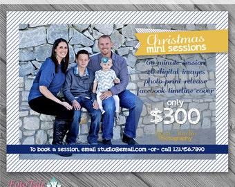 INSTANT DOWNLOAD - Modern Christmas Marketing Board 4- custom 5x7 photo template