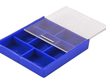 Handy Plastic Storage Box - 7 Compartments for Small Pieces and Parts