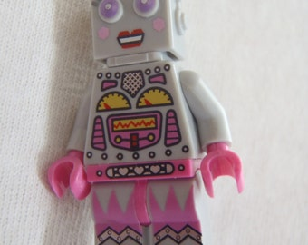 Custom Robot Girl Necklace Made With Genuine LEGO® Bricks
