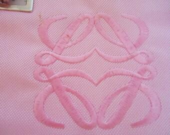 The Loewe Perfume Spanish Bag. Pink.90s
