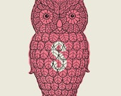 Owl Salt Shaker screen print
